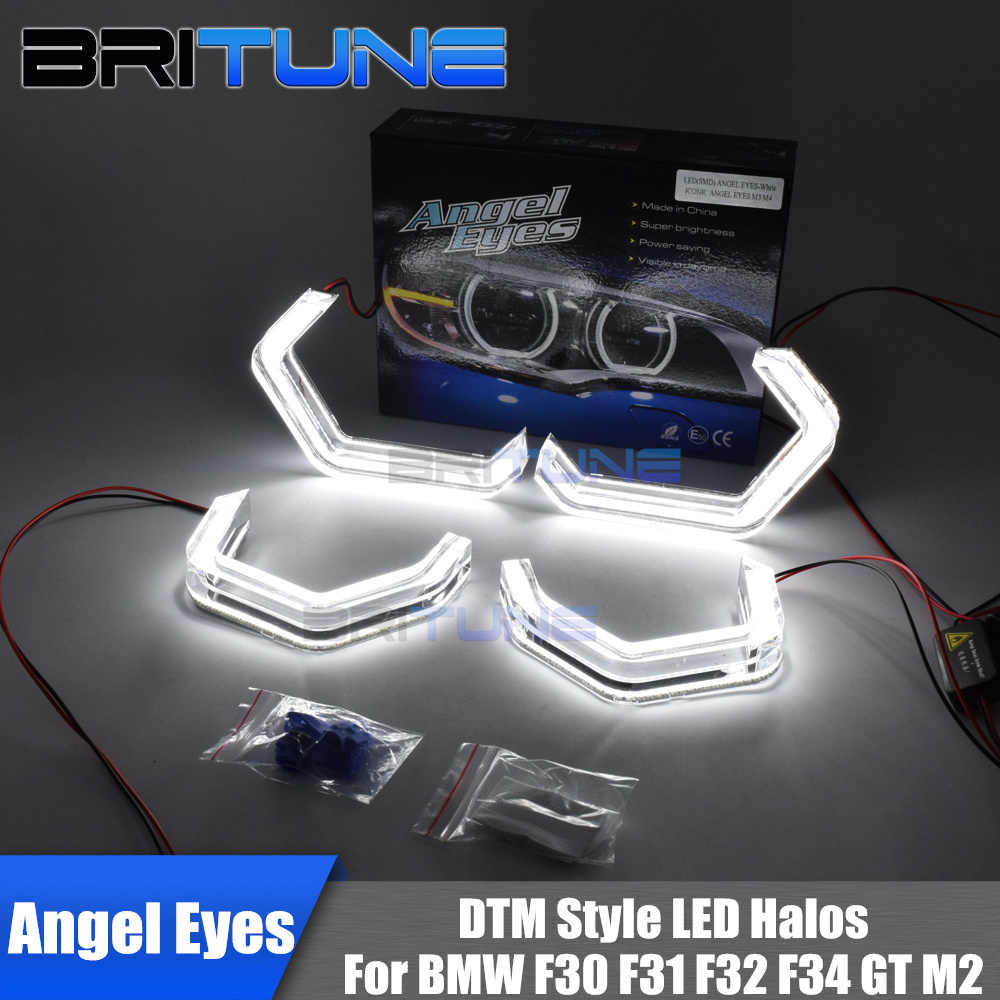 LED Angel Eyes Halo Concept M4 Acrylic For BMW 2 3 4 Series F30 F31 F32 F34 F80 F83 GT M2 Xenon/Halogen Headlight Accessories