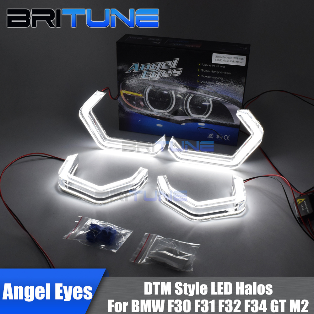 LED Angel Eyes Halo Concept M4 Acrylic For BMW 2 3 4 Series F30 F31 F32 F34 F80 F83 GT M2 Xenon/Halogen Headlight AccessoriesLED Angel Eyes Halo Concept M4 Acrylic For BMW 2 3 4 Series F30 F31 F32 F34 F80 F83 GT M2 Xenon/Halogen Headlight Accessories