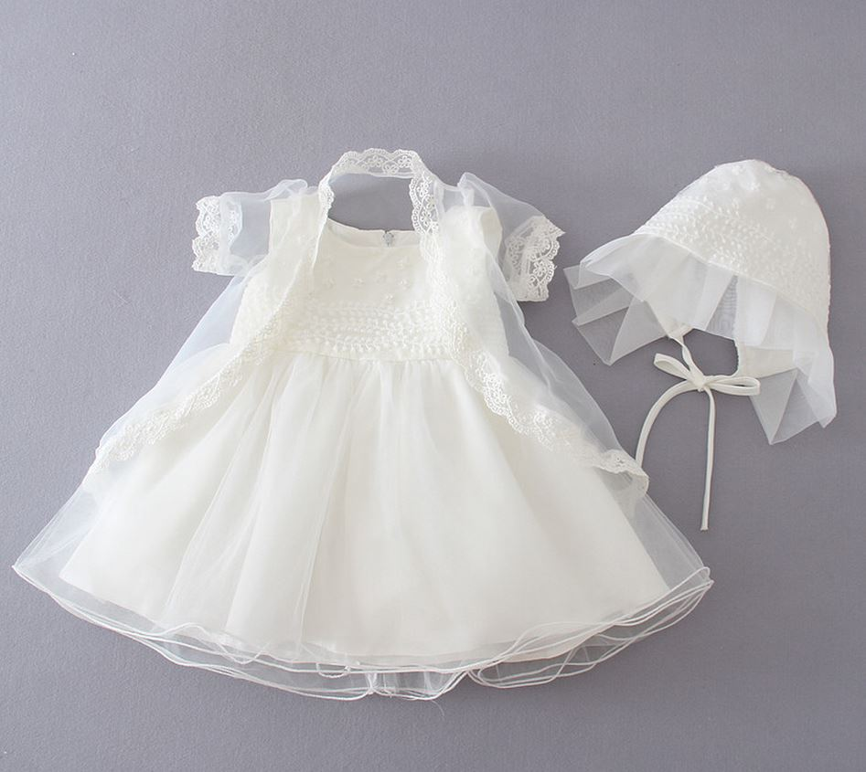 5c979e462eb6 2016 1Year Girl Baby Birthday Dress Newborn Baptism Dress ivory ...