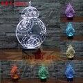 3D 26 см Bulbing Свет 7 Изменение Цвета Star Wars Игрушки Сокол дарт Вейдер BB8 Droid Robot Йода СВЕТОДИОДНЫЕ Лампы Освещения Детские Игрушки Lnt_001