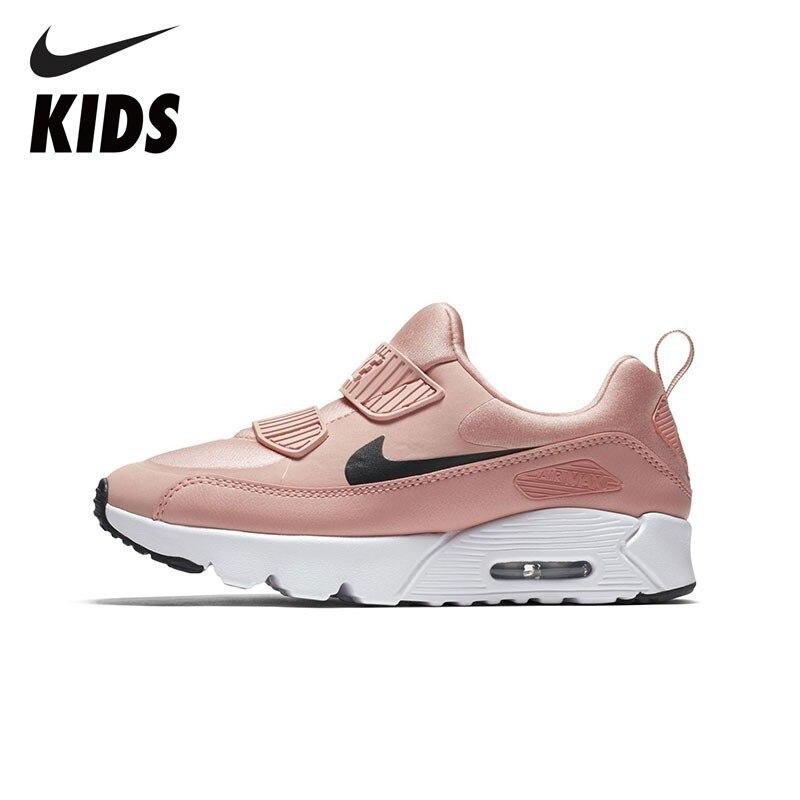 NIKE дети Официальный NIKE дети AIR MAX TINY 90 малыша кроссовки уличная дышащая спортивная обувь детская обувь 881926
