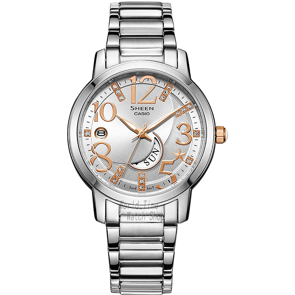 Casio watch Casual fashion simple business waterproof strip ladies watch SHE-4028D-7A