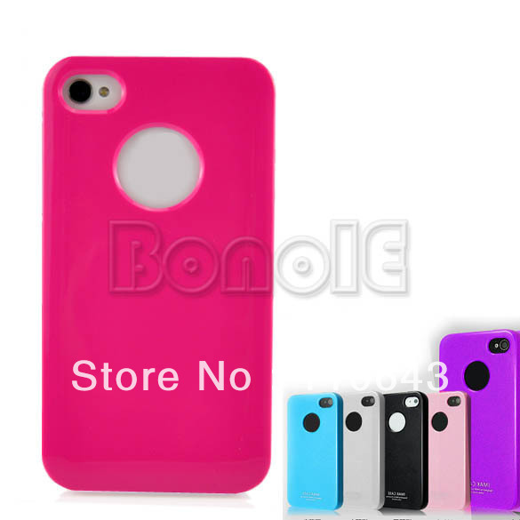 Holiday Sale!  Hot Soft Rubber Silicone case cover skin for iPhone 4S 4G 4 3865