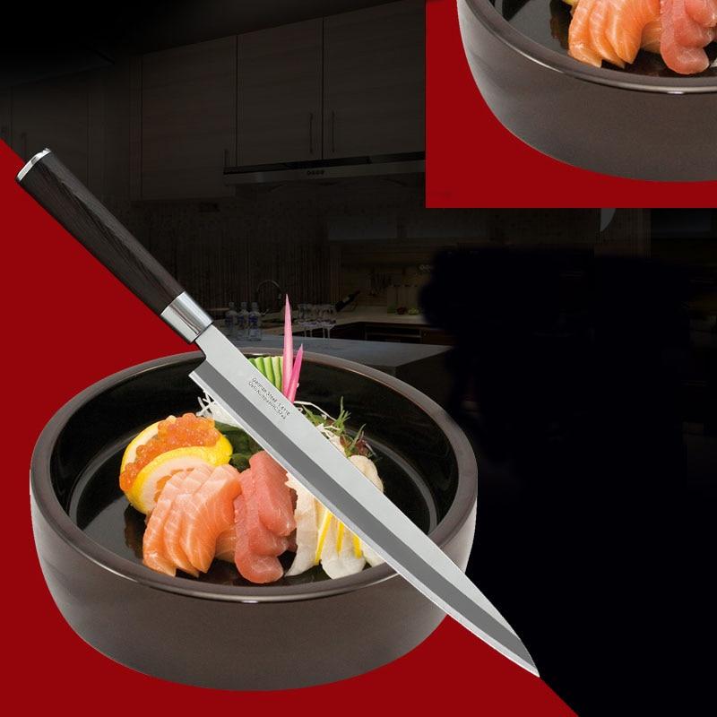 LD German Stainless Steel Sashimi Sashayed Salmon Sushi font b Knife b font Fillet font b