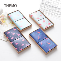 PU Leather Cover Planner Notebook Travel Journal Flamingo Diary Book Exercise Composition Binding Note Notepad Gift