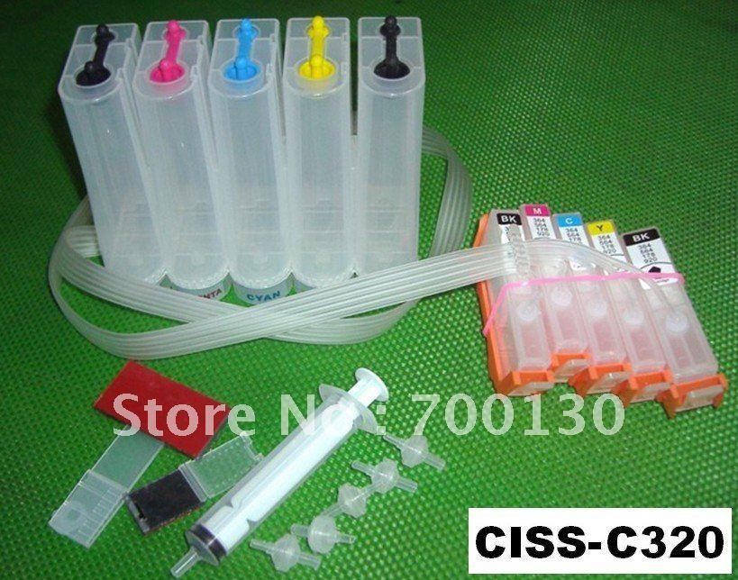 (CISS-C320) réservoir d'encre CISS système d'alimentation en encre continue pour Canon PGI320 CLI321 320 321 IP4700 MP640 MP560 MP550 MP990 MP980