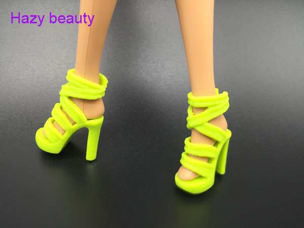 Hazy beauty doll shoes high heel shoes black fashion shoes for BB dolls BBI805