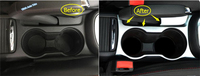 Interior For Opel Vauxhall Mokka Buick Encore 2013 2014 2015 ABS Chrome Matte Style Water Cup