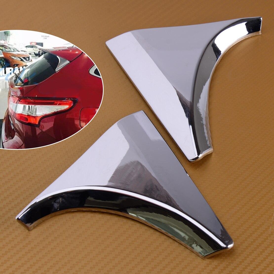 DWCX voiture ABS Chrome 2 pièces fenêtre arrière hayon aileron garnitures couverture pour Nissan Qashqai J11 2014 2015 2016 2017 2018