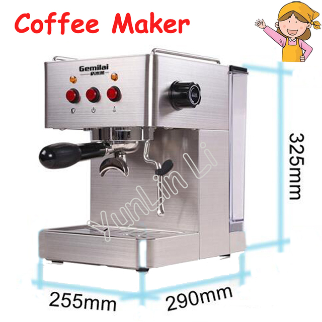 commercial italian coffee maker 15bar stainless steel coffee machine steam grilled coffee maker crm3005