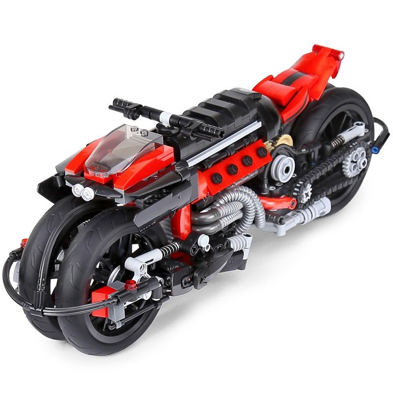 цена на Xingbao 03021 680Pcs Technic Series The Off-road Motorcycle Set Building Blocks Bricks Educational Toys Model Gift