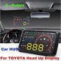 """Auto 5.5 """"HUD Head Up Display Parabrisas Proyector de Datos de Diagnóstico OBD II Del Coche Camry Yaris RAV4 Prius Celica Corolla Land Cruiser"""