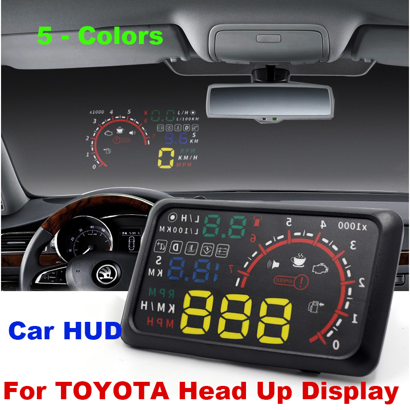 auto 5 5 hud head up display windscreen projector obd ii. Black Bedroom Furniture Sets. Home Design Ideas