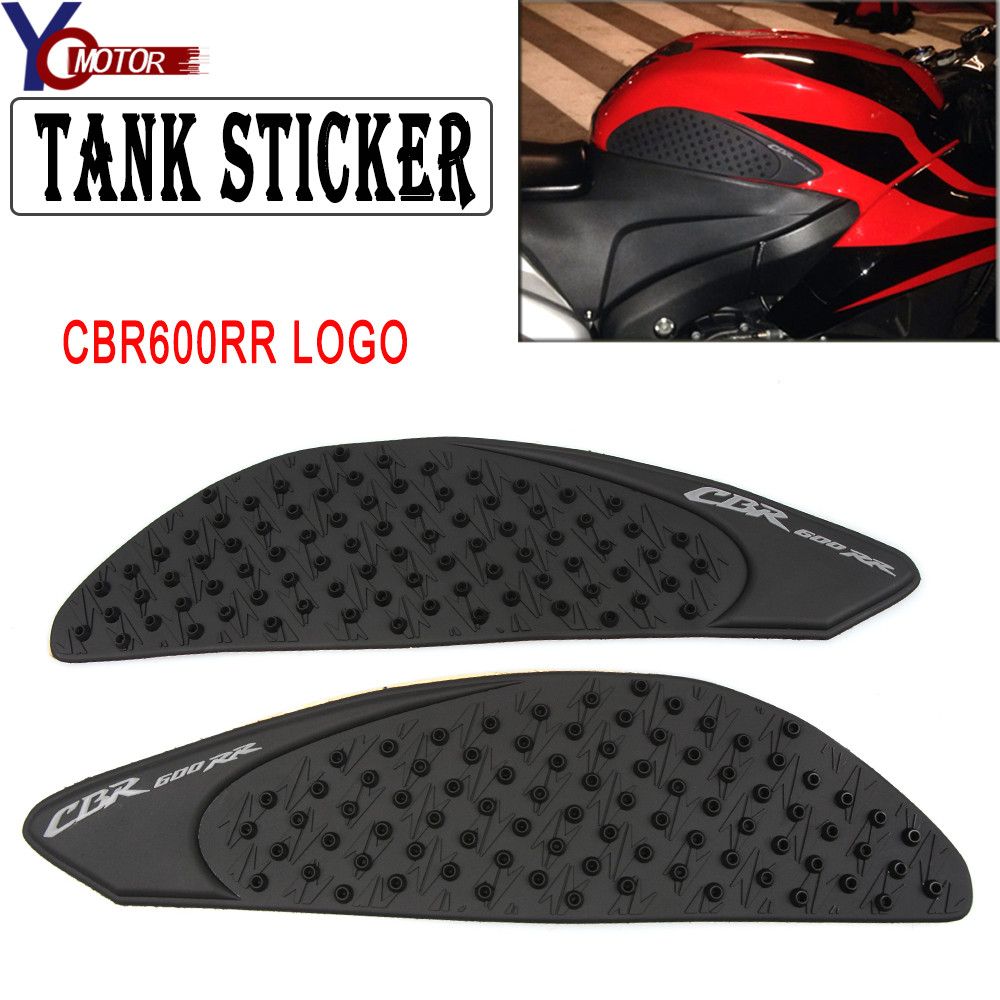 Motorcycle Gas Tank Pad Traction Side Pads Gas Fuel Knee Grip Decal Protector For Honda CBR 600RR 2007-2012