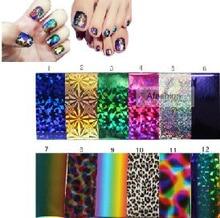 10 шт. смешать цвет 10*30 см nail art начать наклейки большого размера 3d гвозди для ногтей гелем украшения фольги на наклейки уход бесплатная доставка