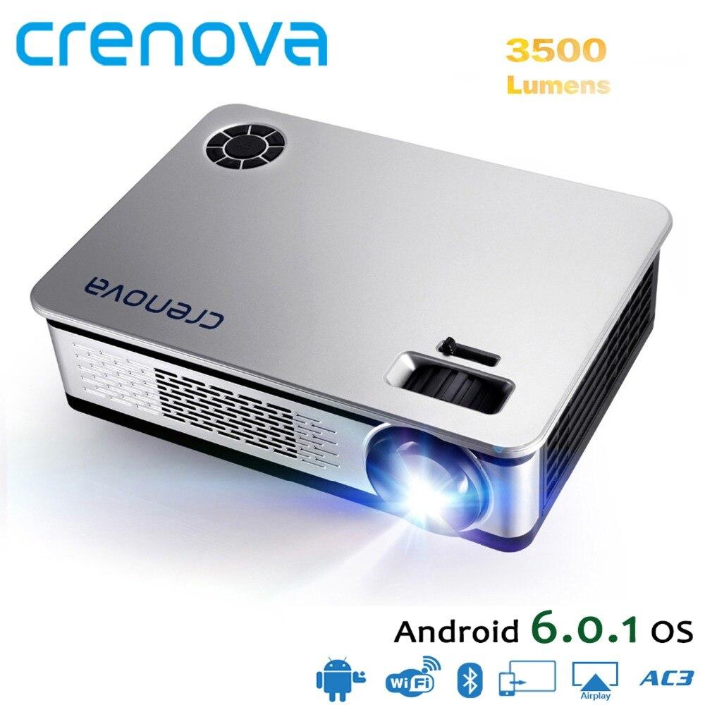 CRENOVA La Più Recente Home Theater Proiettori Per Full HD 4 k Android Con Il WIFI Bluetooth di Alta Qualità Proiettore Beamer