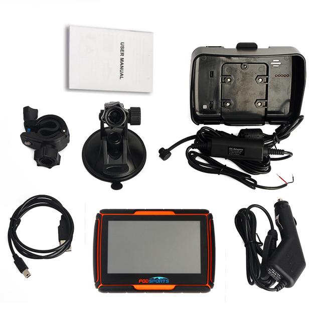 Fodsports! Updated 256M RAM 8GB Flash 4.3 Inch Moto GPS Navigator Waterproof Bluetooth Motorcycle gps Navigation Free Maps!