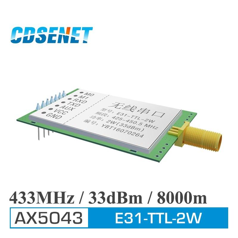bilder für Drahtlose hf-modul Ultralangstreckenmikro Serielle Sender Original CDSENET RF Verstärker PA E31-TTL-2W 433 MHz rf Modul UART