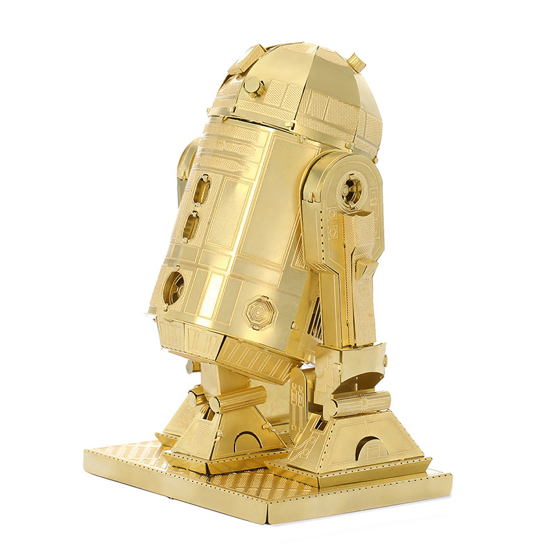 Gold pit droids model laser cutting 3D puzzle DIY metalic spacecraft jigsaw free shipping Star war