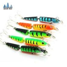 3D Eyes Lifelike Fishing Lure 10.5cm/14g/pcs Floating Lures Hard Bait 5pcs/lot Multi-corlors 2 Sections Fishing Tackle