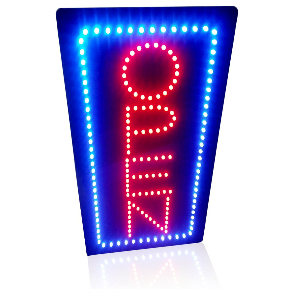 19inch Animated Motion Led Neon OPEN Sign Flashing And Change Colors Led Sign Board  On/off Switch For Shop