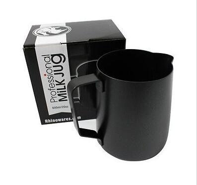 Rhinowares - Professional Black Teflon Milk Pitcher 20oz / 600ml
