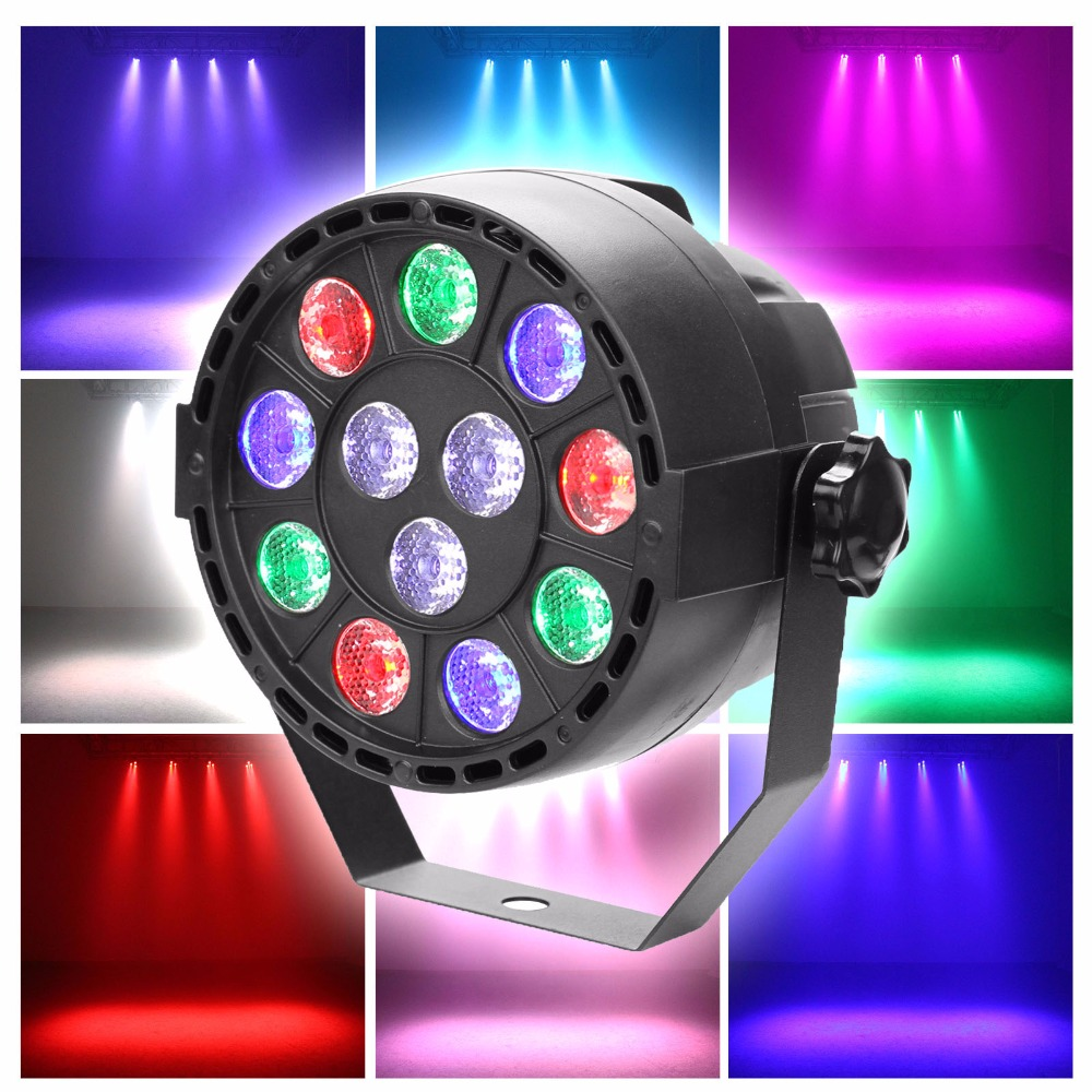 15W RGBW LED Par Up Lighting DMX Color Mixing 8CH Can Background Stage Lamp for Wedding KTV Bar Pub DJ
