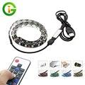 USB 5 V Tira CONDUZIDA 5050 RGB TV Fundo Iluminação 60 LEDs/m com 17Key Controlador RF 50 cm/1 m/2 m Conjunto