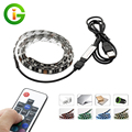 USB 5V LED Strip 5050 RGB TV Background Lighting 60LEDs/m with 17Key RF Controller 50cm / 1m / 2m Set