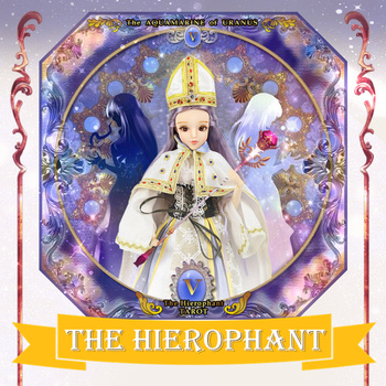 TAROT CARD Major Arcana The Hierophant joint body doll purple hair 34cm east barbi