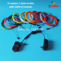 10 renkler Choice 15 Metre EL Tel Parlayan Esnek Neon işık Halat Tüp AC220V el invertör Ile Noel Ağaçları için dekorasyon