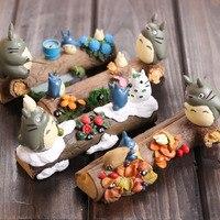 13 cm il mio vicino totoro action figure photo frame del fumetto del anime totoro pvc figure toy doll 4 stagioni capretti di disegno giocattoli