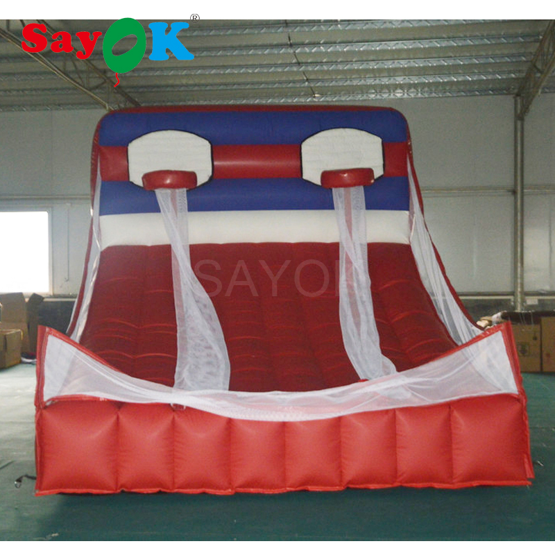 Commercial giant PVC inflatable basketball hoop court, inflatable basketball game for kids/adults
