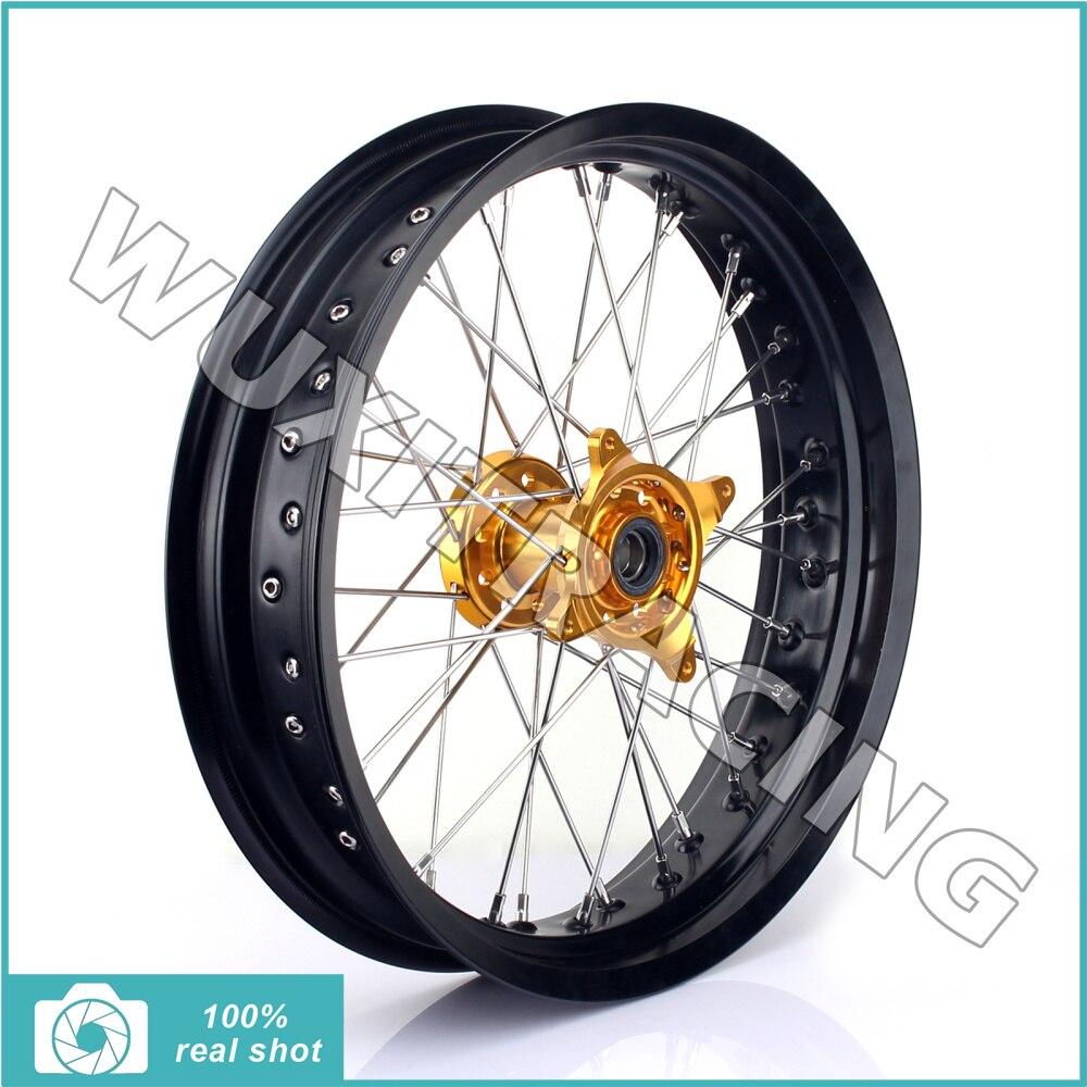 3.5 x 17 MX Motocross Front Supermoto Wheel Rim Hub for SUZUKI RMZ250 RMZ RM-Z 250 2007-2016 RMZ450 RMZ RM-Z 450 2005-2016 rm dr rm z 125 250 350 400 450 650 front brake pads