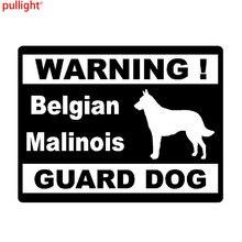 13.5cm*10.3c Car Styling Personality Warning Belgian Malinois Guard Dog Car Stickers