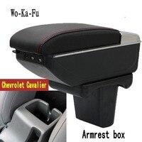 Para Chevrolet Cavalier Armazenar conteúdo caixa apoio de braço central caixa De Armazenamento com suporte de copo cinzeiro USB interface 2016 2017 2018 2019