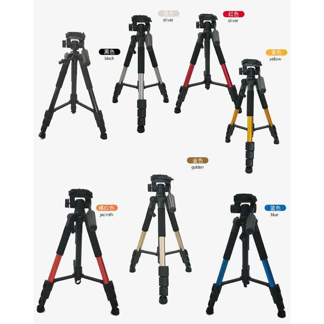 Professional Portable Camera Tripod With Caryy Bag Aluminum Stand For DSLR Photography Travel Photo Tripode VS Q111