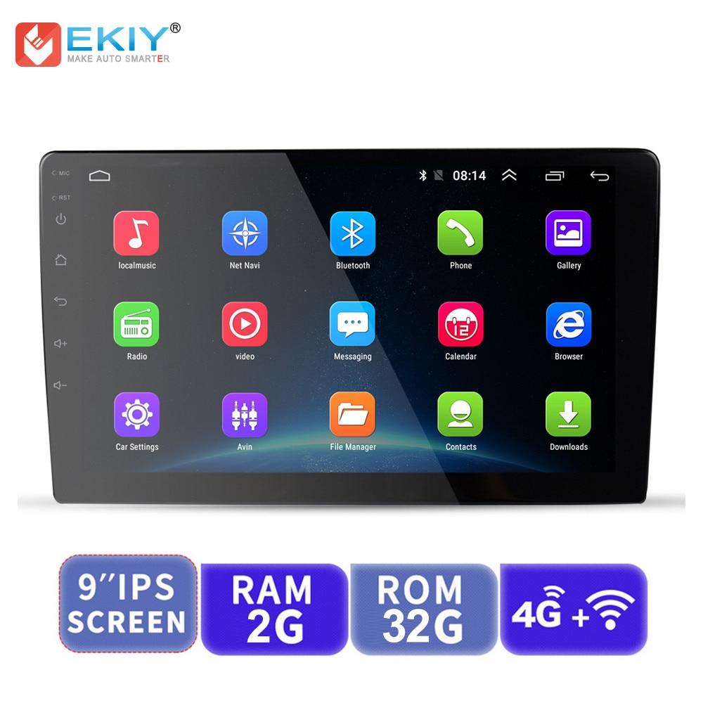 EKIY 9'' IPS Android Universal 2 Din GPS Navigation Autoradio Car Multimedia Player BT Wifi OBD2 Stereo Radio Video Player