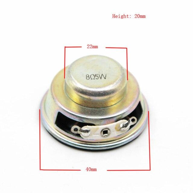 2pcs alto-falante acústico 8 ohm 5 w 40mm alto-falante magnético interno 20mm 18mm espessura borda do plutônio