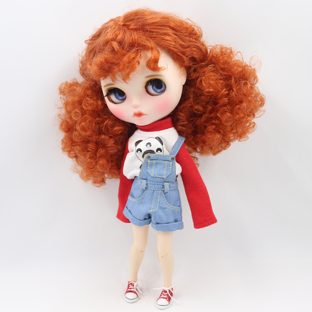 ICY Neo Blythe Doll Ginger Afro Hair Jointed Body 30cm
