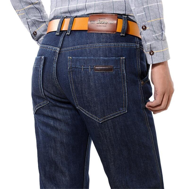 Brand New Mens Fleece Fodrade jeans, Mode Varm jeans Höst Vinter - Herrkläder - Foto 5