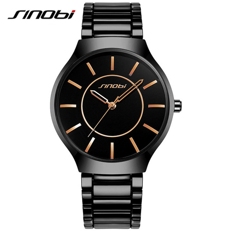 SINOBI Business Watches for Men Japan Quartz Wristwatch Man's Fashion Casual Stainless Steel Watch Clock new arrival 2015 brand quartz men casual watches v6 wristwatch stainless steel clock fashion hours affordable gift
