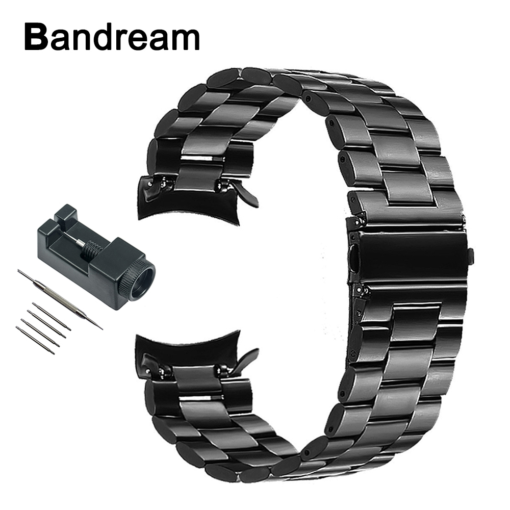 22mm Stainless Steel Watchband +Tool for Gear S3 Metal Clip Band Watch Strap Wrist Bracelet for Samsung Gear S3 Classic Frontier crested genuine leather strap for samsung gear s3 watch band wrist bracelet leather watchband metal buck belt