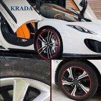KRADA 자동차 스타일링 스티커 휠 트림 장식 메르세데스 벤츠 Amg W204 Cla Amg W204 W203 W211 W205 W124 W205 W210 Glk Gla