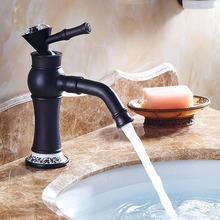 Grifo lavabo Oil Rubbed Black Bronze Antique Copper Basin Faucet Fashion Hot Cold Mixer Sink Tap