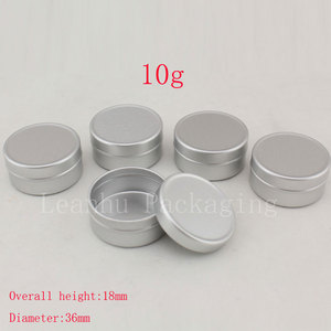 Image 4 - 10g X 200 Empty Sample Cosmetic Cream Container Aluminum ,Lip Balm Jars ,Solid Perfume Bottle Jar Tin Storage Containers Pot