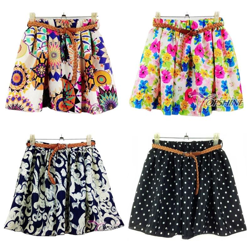 5fe71c86a € 5.46 |Nuevo verano mujer gasa falda plisada chicas faldas cortas faldas  mujeres Culottes de la falda con la correa 15 colores en Faldas de Ropa de  ...