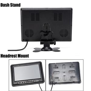 "Image 5 - Podofo 9 ""TFT LCD פיצול מסך Quad צג טלוויזיה במעגל סגור אבטחת מעקב משענת ראש צג אחורי 4 RCA מחברים וידאו תצוגה"
