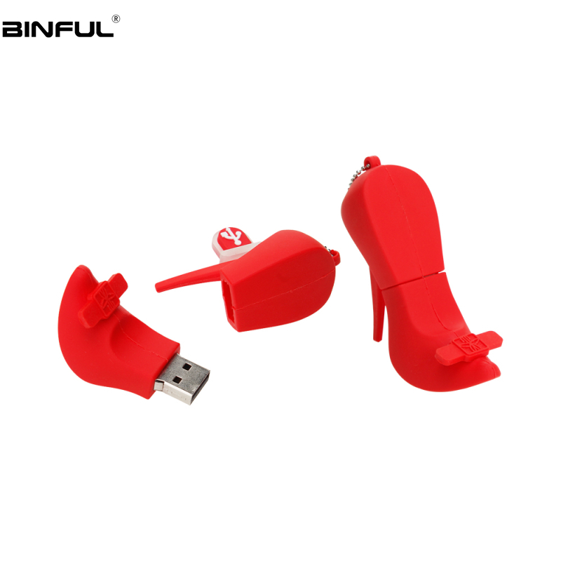 Image 4 - Usb Flash Drive 32GB Cartoon High Heels Pen Drive 64GB 128GB 4GB Flash Memory Stick 8gb 16gb USB 2.0 memoria usb Free Shipping-in USB Flash Drives from Computer & Office
