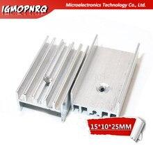 Transistor de alumínio do radiador 15*10*25mm do dissipador de calor de 10 pces para-220 hjxrhgal para transistores to220 branco